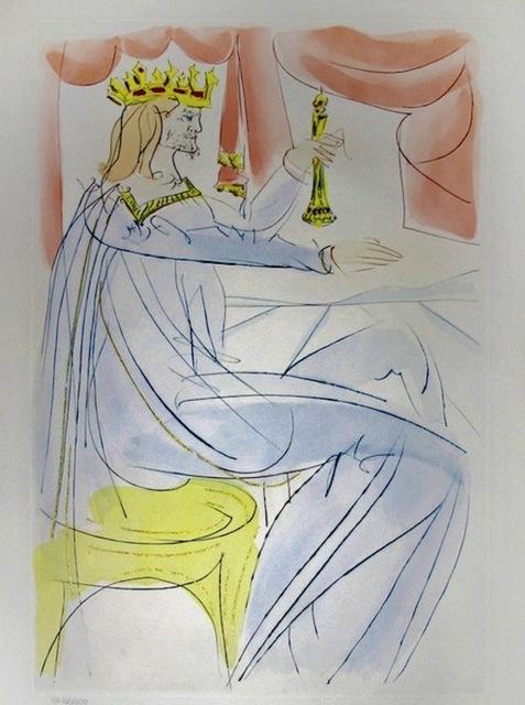 Salvador Dalí, 'King David ', 1975, Print, Engraving with Pochoir, Dawson Cole Fine Art