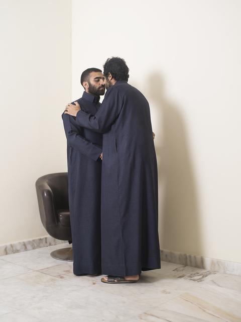 , 'Two Men Greeting,' 2017, Shulamit Nazarian