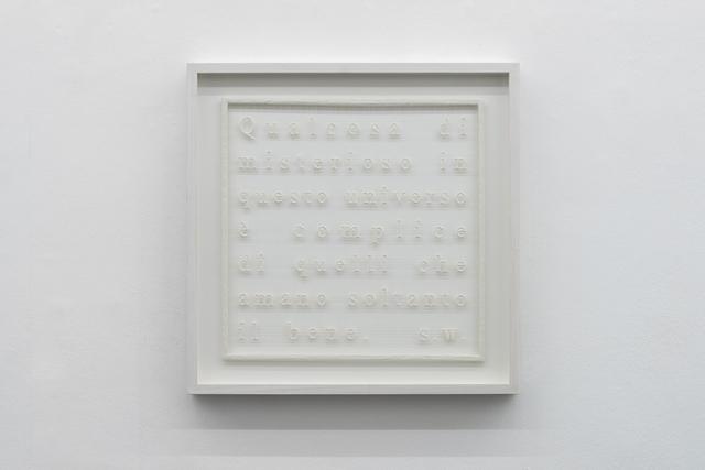 , 'Il bene,' 2016, Galleria Massimo Minini