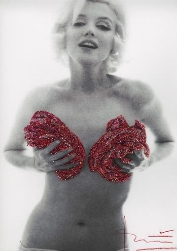 Bert Stern, 'Marilyn red classic full roses Glitters', 2012, Kunzt Gallery
