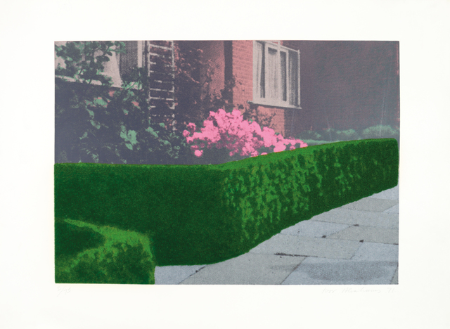 , 'Privacy Plot - Cottage and Hedge,' 1970, Bernard Jacobson Gallery