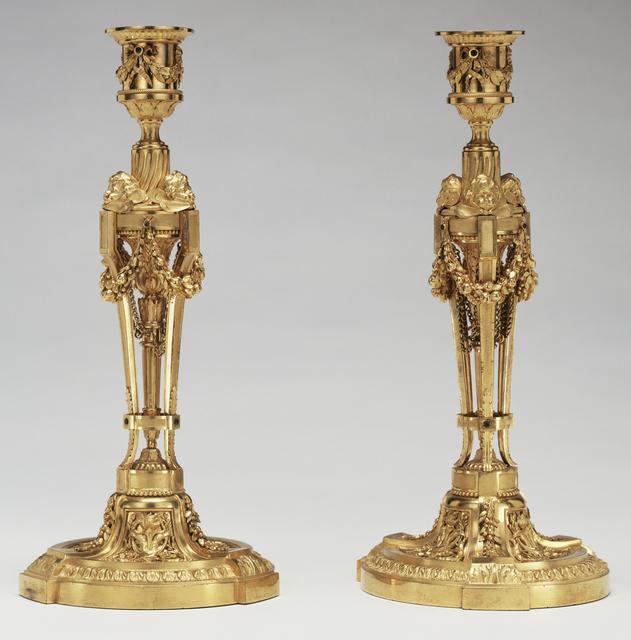Etienne Martincourt, 'Pair of Candlesticks', 1780, J. Paul Getty Museum