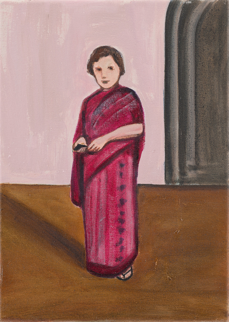 Matthew Krishanu, 'Magenta Sari', 2016, Painting, Oil on canvas, Jhaveri Contemporary