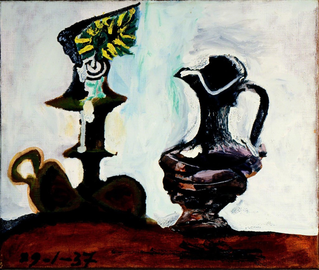 Pablo Picasso | Nature Morte au Bougeoir et a la Cruche (1937 ...