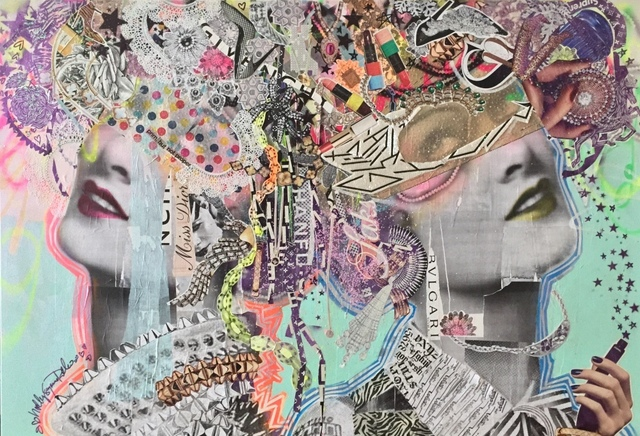 Holly Suzanne Rader, 'Shop Girls', 2020, Painting, Mixed media on canvas, Parlor Gallery