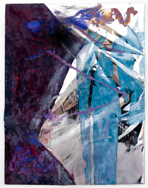 , 'Blue Velvet SHED BELIEF LIKE TEARS painting,' 2014, El Museo del Barrio
