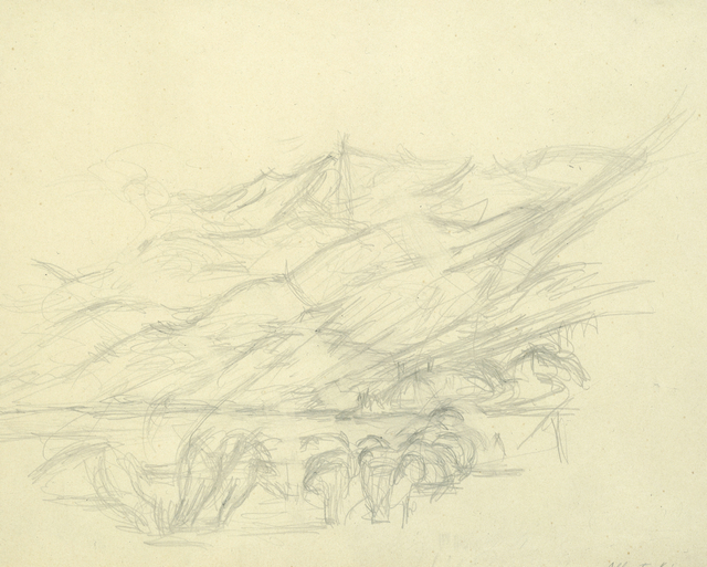 , 'Montagne à Maloja et lac de Sils,' 1953, HDM Gallery