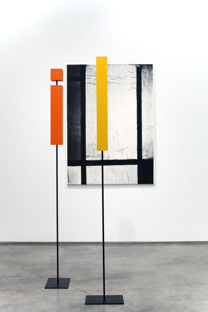 , 'Tableau 3 with Orange-Red, Yellow, Black, Blue and Grey' in Time and Space,' 2011, Marianne Boesky Gallery