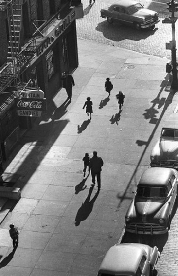 , 'View of 125 street fron elevated train, NY,' 1950, Lumiere Brothers Gallery