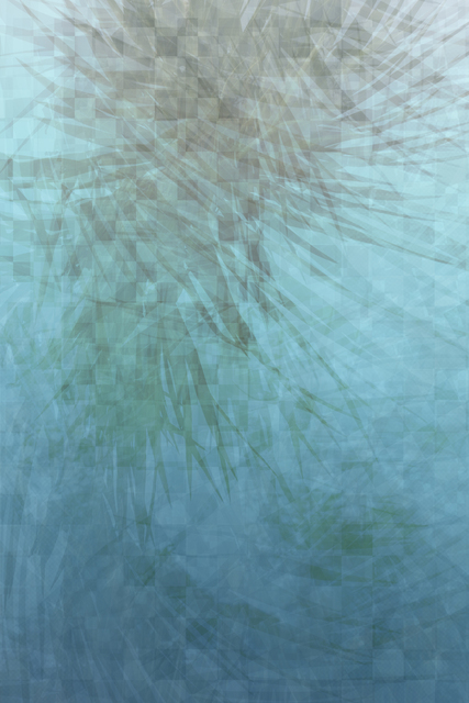 , 'Cyan Palm Pass Through,' 2015, Foley Gallery