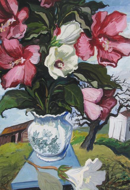 , 'Peonies in Rural Landscape,' ca. 1945, Caldwell Gallery Hudson