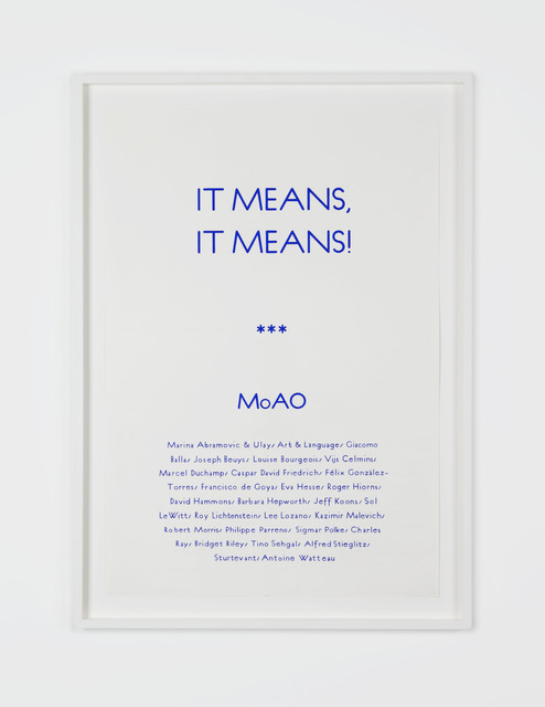 , 'Untitled (It Means It Means, Poster),' 2013, Pilar Corrias Gallery