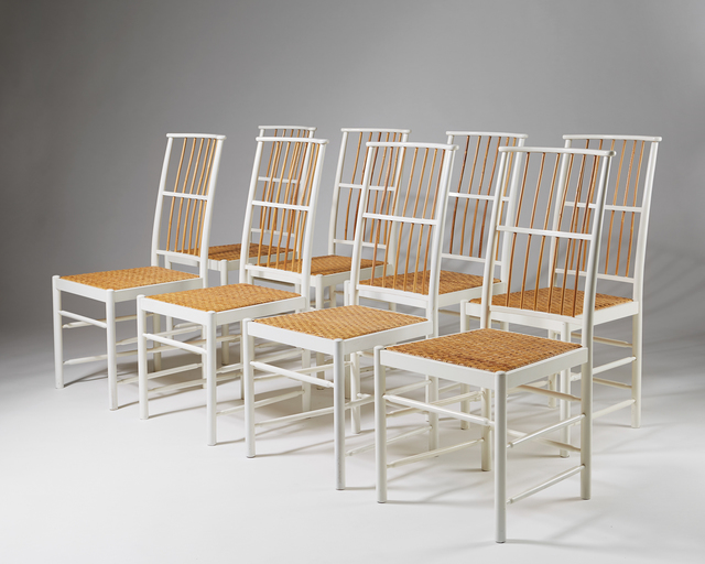 , 'Set of eight dining chairs model 2025 ,' 1925, Modernity