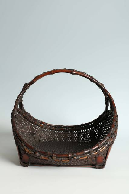 , 'Flower Basket with Bamboo Rhizome Handle (T-4181),' ca. 1930, Erik Thomsen