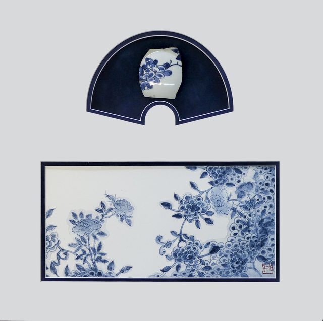 , 'Blue and white Impressions Garden,' 2017, Kate Oh Gallery