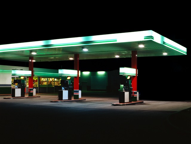 , 'Petrol Stations (green, white),' 1998, Bernhard Knaus Fine Art
