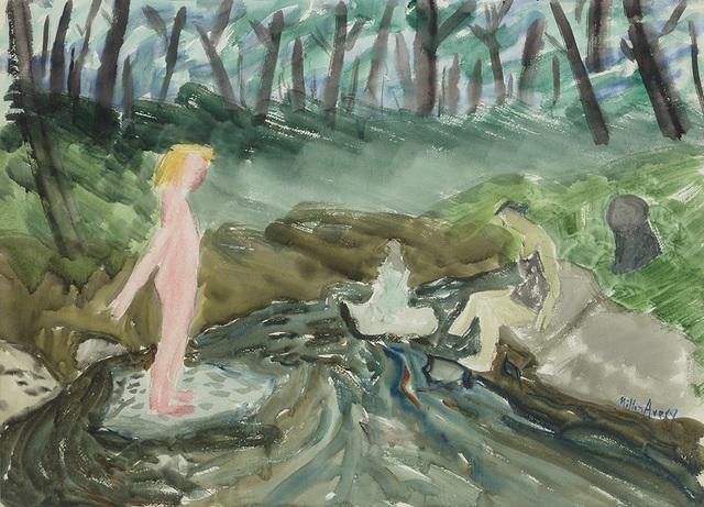 , 'Brook Bathers,' 1939, Miriam Shiell Fine Art