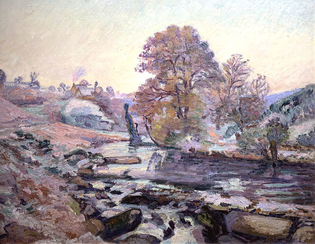 , 'White Frost in the Crozant Valley, with the Dam of Bouchardon,' circa 1895, R. S. Johnson Fine Art