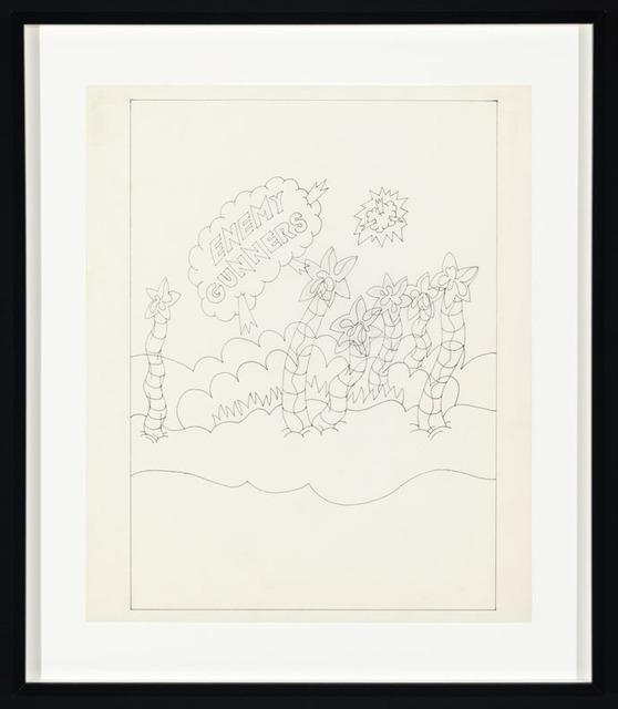 , 'Sketch for Enemy Gunners,' 1969, Corbett vs. Dempsey