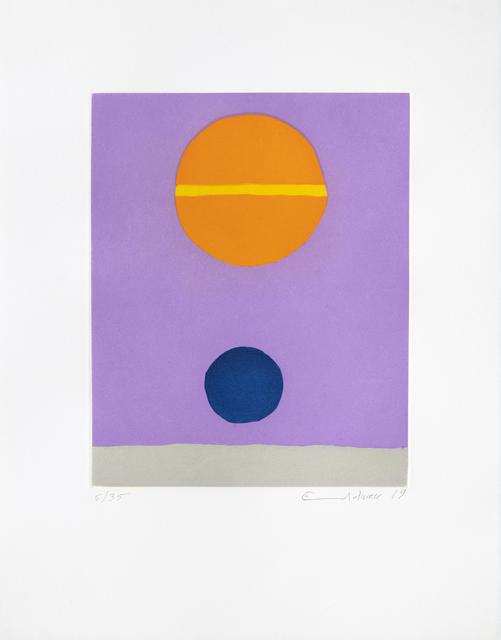 Etel Adnan, 'Poids de la Lune V', 2019, Galerie Lelong & Co.