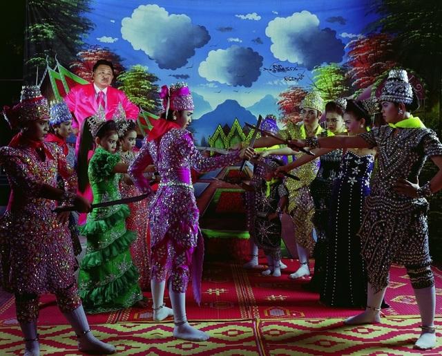 Manit Sriwanichpoom, 'Pink Man Opera # 7. Egging on people to dance, pounding a boat to spring a leak', 2009, Print, Lambda Print, Kristin Hjellegjerde Gallery