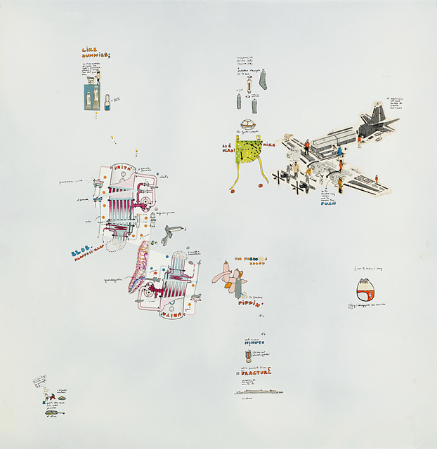 Gianfranco Baruchello, 'Priorità assoluta al gesto isterico', 1969, Il Ponte