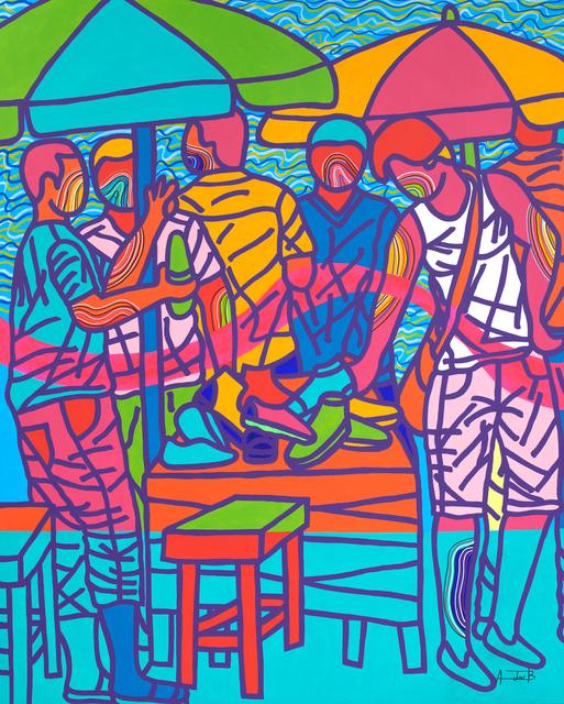 Ajarb Bernard Ategwa, 'Na 2 kolo', 2018, Painting, Acrylic on canvas, Jack Bell Gallery