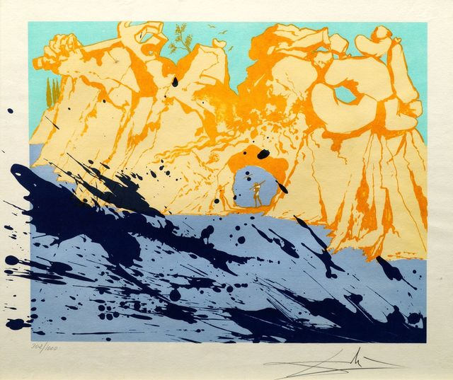 Salvador Dalí, 'Rocas Sobre el Mar [M&L 1351]', 1971, Print, Lithograph in colours on wove, Roseberys
