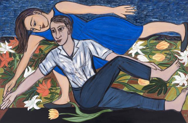 Eileen Cooper, 'Blue Duet', 2016, Huxley-Parlour