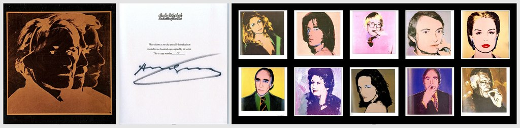 Portraits of the 1970s (Hand Signed and numbered by Andy Warhol, Deluxe Limited Edition boxed gift set)