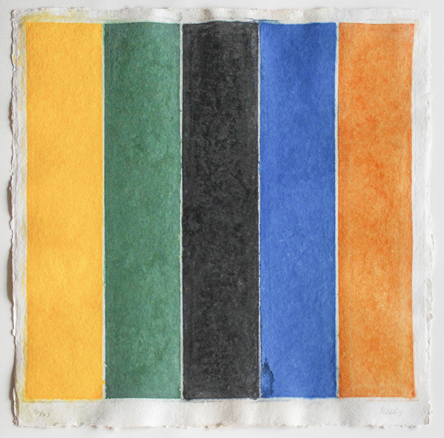, 'Colored Paper Image XIII (Yellow Green Black Blue Orange),' 1976, William Shearburn Gallery