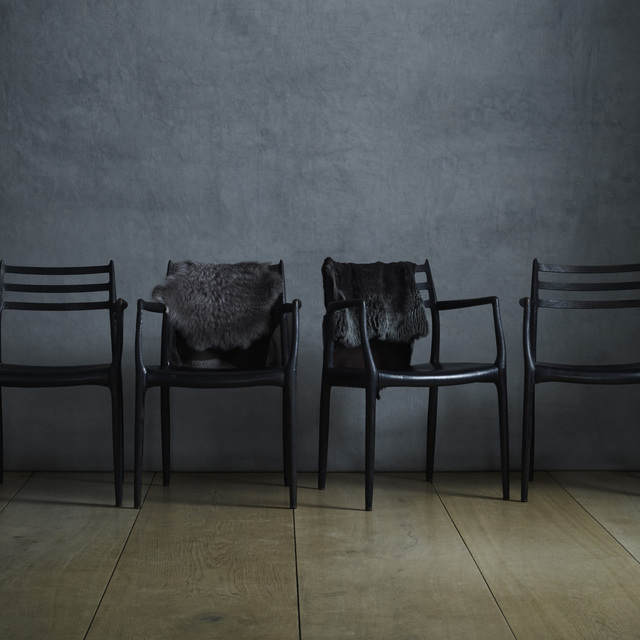 Niels Otto Møller, 'dining chairs, set of four', Wright