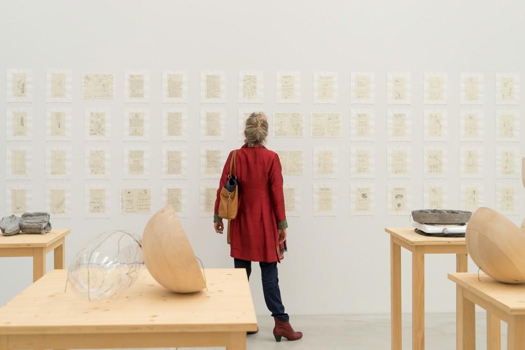 "Installation view of ""Matt Mullican: Nothing Should Exist"" at Kunstmuseum Winterthur, 2016."
