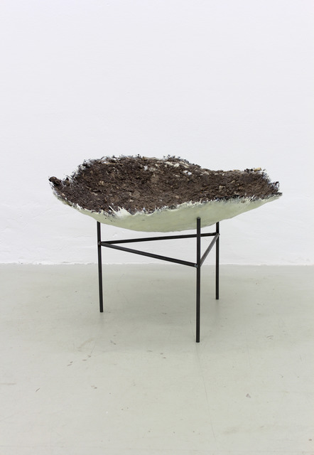 , 'untitled (Wildschweinkessel),,' Resin, soil, steel, Meyer Riegger