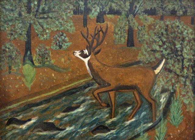, 'Deer in Landscape,' 1948, Oeno Gallery