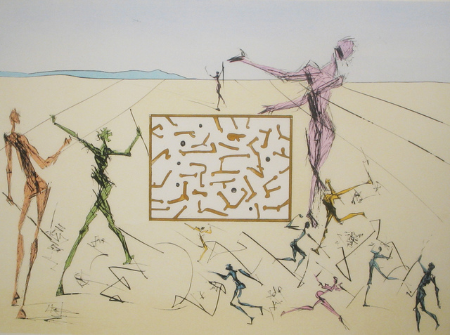 Salvador Dalí, 'Computer Circuit', 1975, Print, Drypoint engraving with stenciled color, DTR Modern Galleries