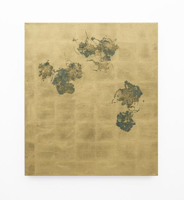 , 'Hair orchid sweat print, linen,' 2018, SMAC