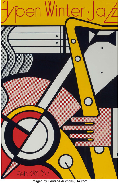 Roy Lichtenstein, 'Aspen Winter Jazz Poster', 1967, Print, Screenprint in colors on wove paper, Heritage Auctions