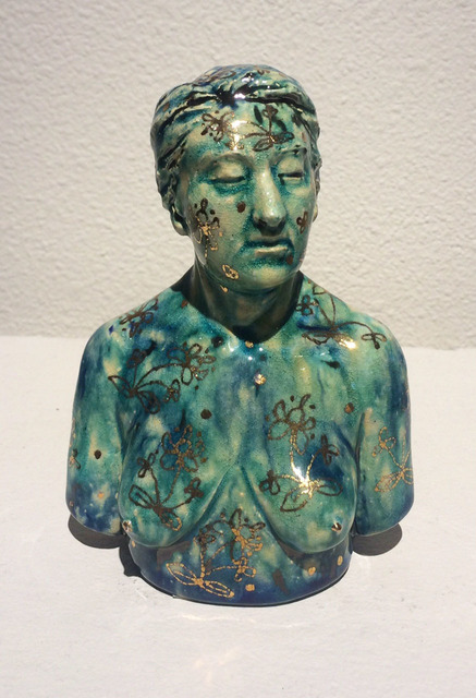 , 'Glossy Female Bust w/Gold Floral Pattern,' 2016, Abmeyer + Wood Fine Art