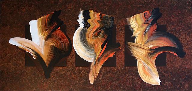 Dennis Kleidon, 'Sun Dancers #1', 2020, Painting, Acrylic on canvas, Walter Wickiser Gallery