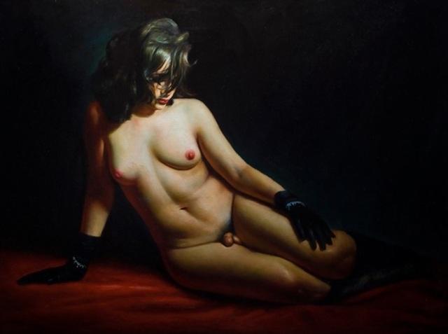 Rose Freymuth-Frazier, 'Reclining Hermaphrodite', 2008, Stone Sparrow NYC