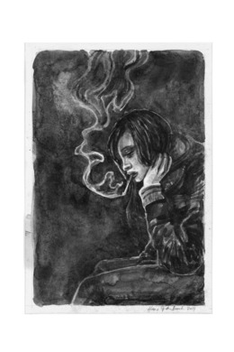 , 'Smoking girl,' 2014, Galerie Ron Mandos
