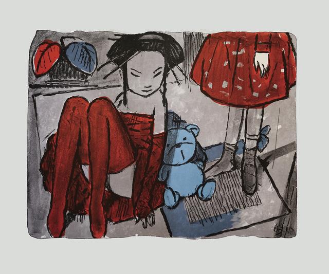 Andrey Ostashov, 'Lilac girls and blue bear', 2010,  OSTASHOV sculpture