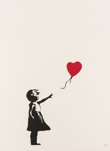 Banksy, 'Girl With Balloon', 2004, Print, Screenprint in colours, Forum Auctions