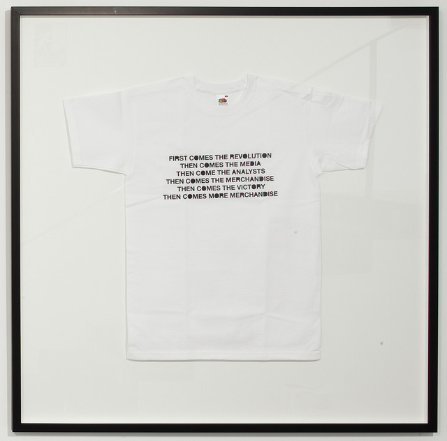 , 'The revolution will be merchandised,' 2011, Sabrina Amrani