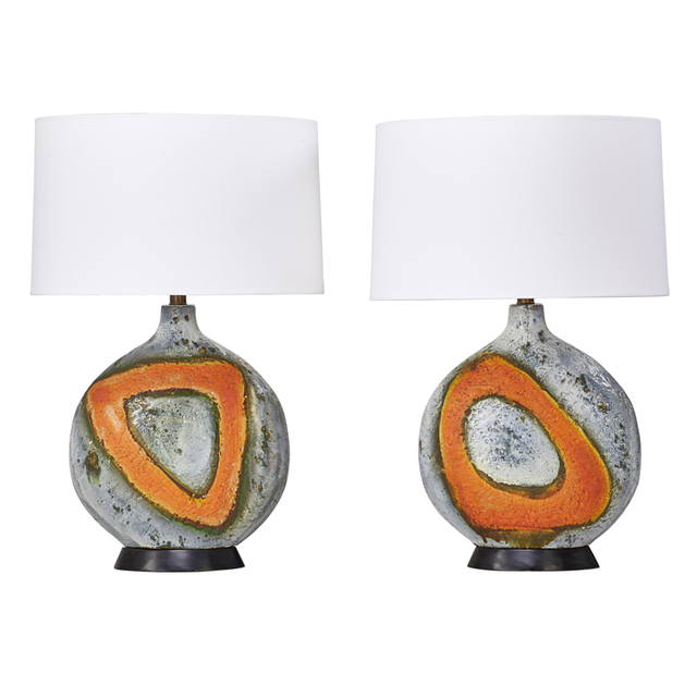 Fantoni, 'Pair Of Table Lamps, Italy', 1950s, Rago/Wright
