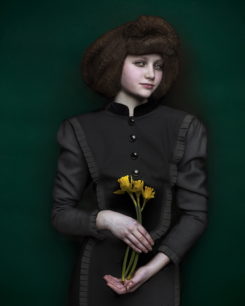 Girl with  daffodils  by Shelly Mosman 2017