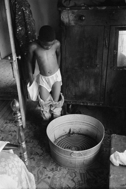 Constantine Manos, 'Untitled, Island Boy, Daufuskie Island, South Carolina (boy bathing)', 1952, Robert Klein Gallery