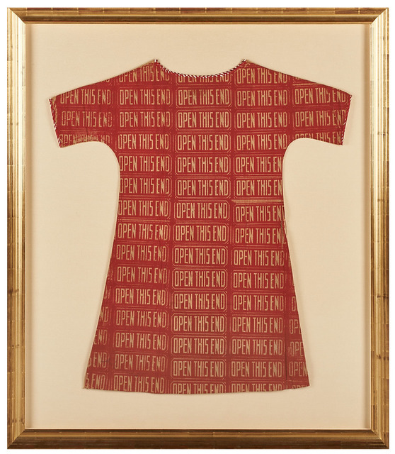 , 'Open this end (Paper dress),' 1966, Robert Fontaine Gallery