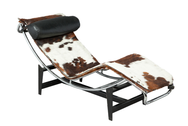 'Le Corbusier Leather, Hide and Tubular Metal LC4 Chaise Longue', Design/Decorative Art, Doyle